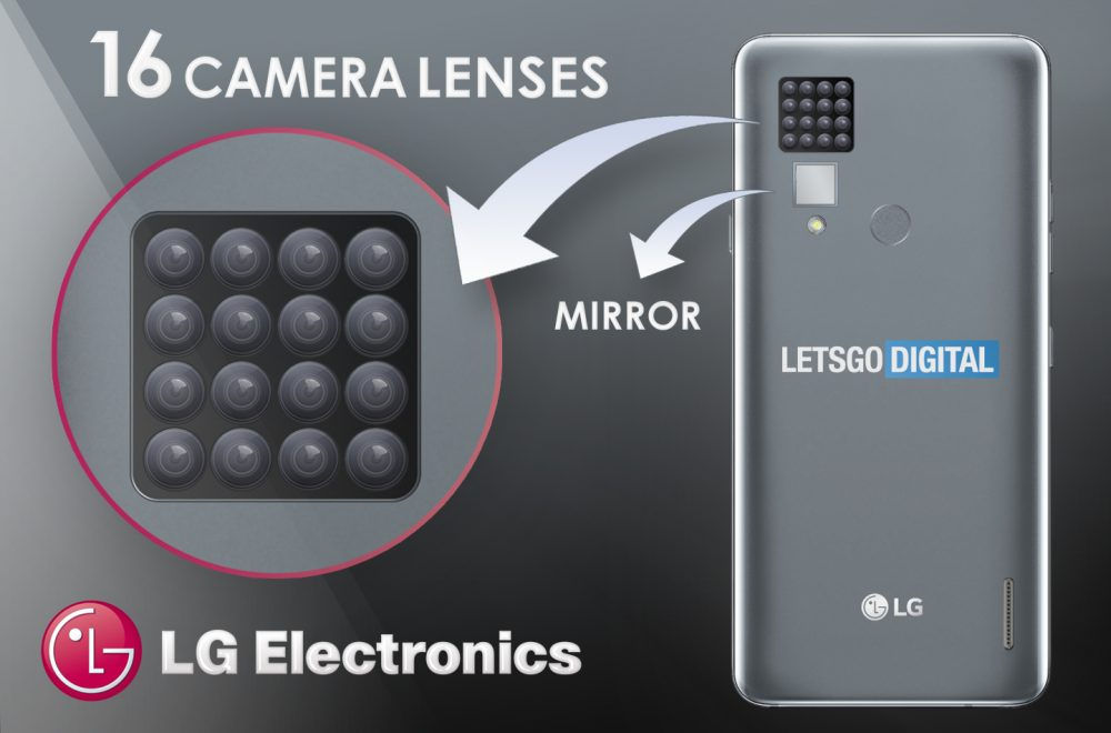 LG imagines a smartphone with no less than 16 camera lenses