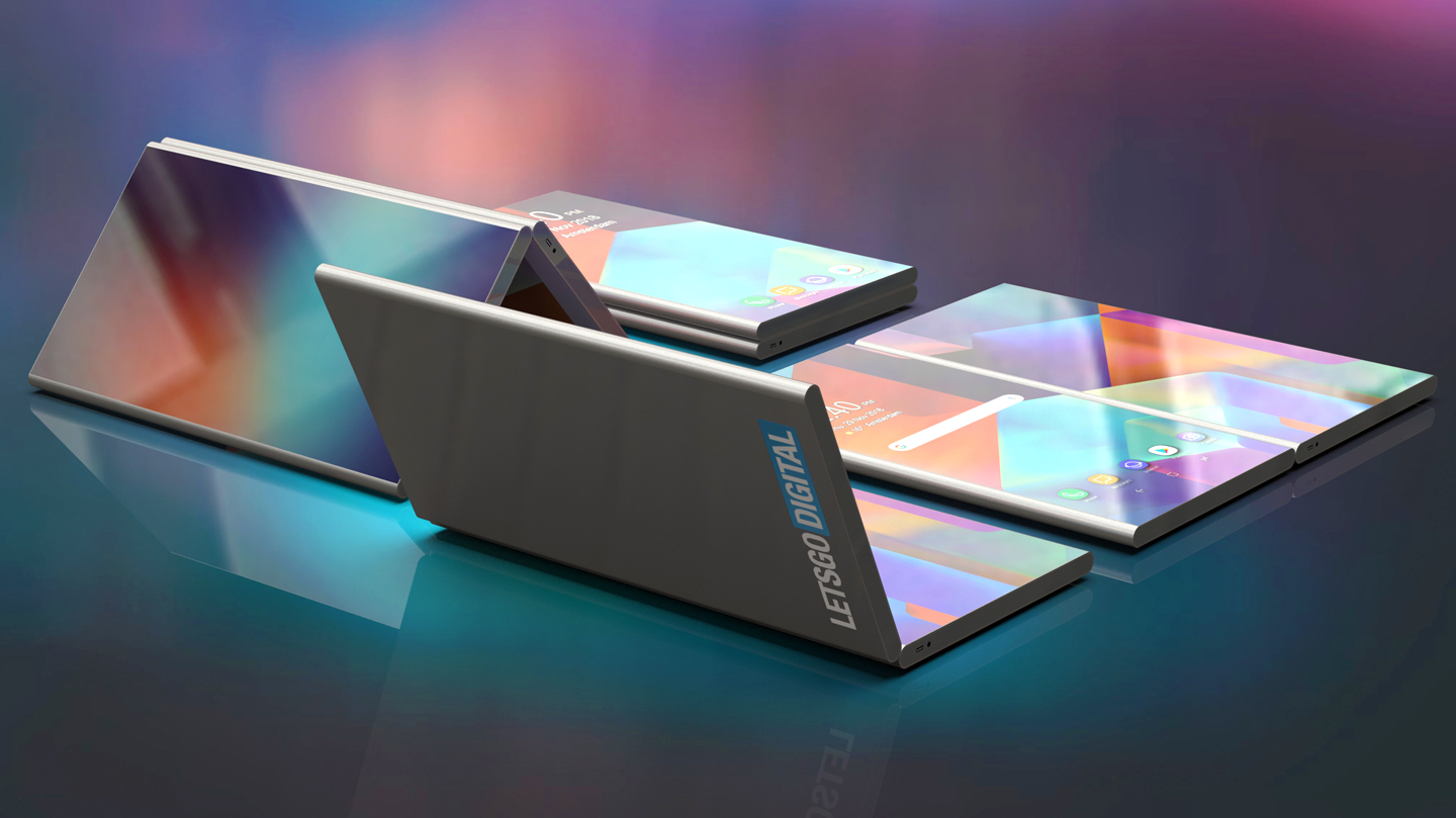 """Samsung patents a folding phone which looks a lot like the """"Surface Phone"""" 1"""