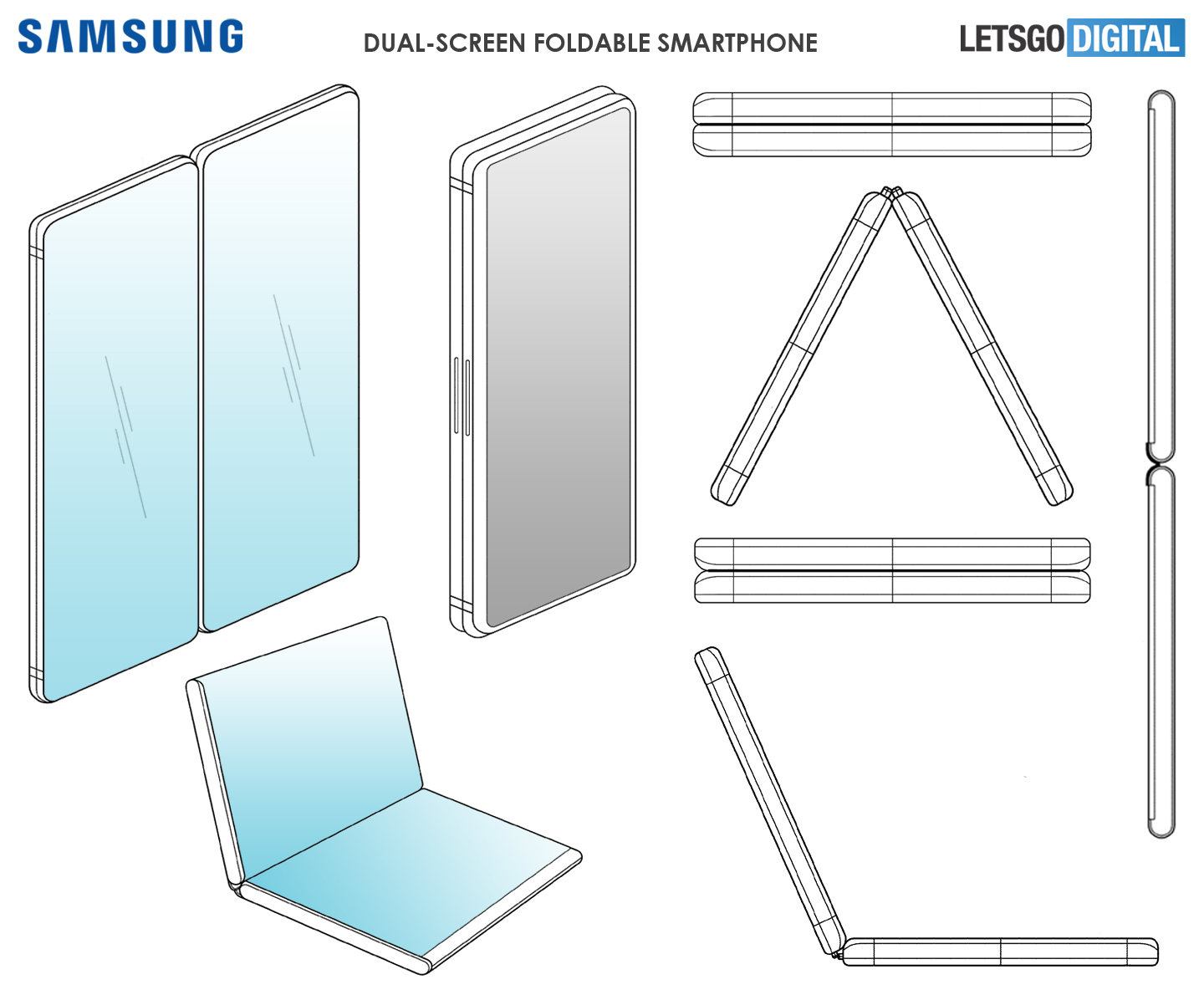 """Samsung patents a folding phone which looks a lot like the """"Surface Phone"""" 2"""
