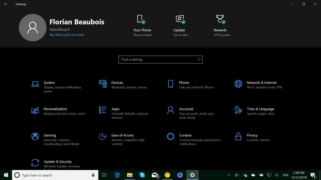 Microsoft tests a new kind of header in the Windows 10