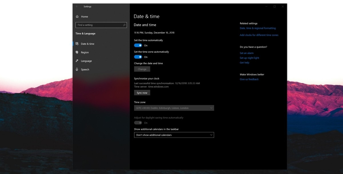How to force sync your Windows 10 PC to the Microsoft time