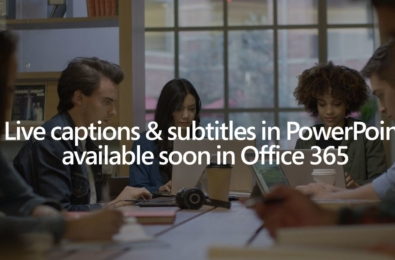 Latest Insider update of Office 365 for Windows brings live captions and subtitles in PowerPoint 2