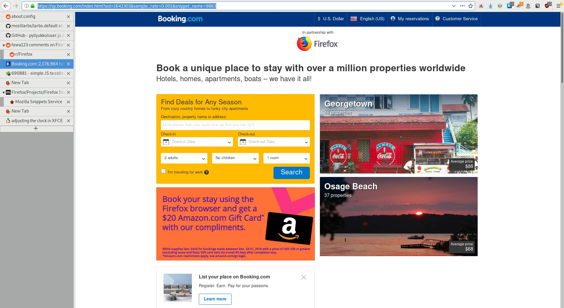 Firefox is turning into adware with new Snippets-based hotel