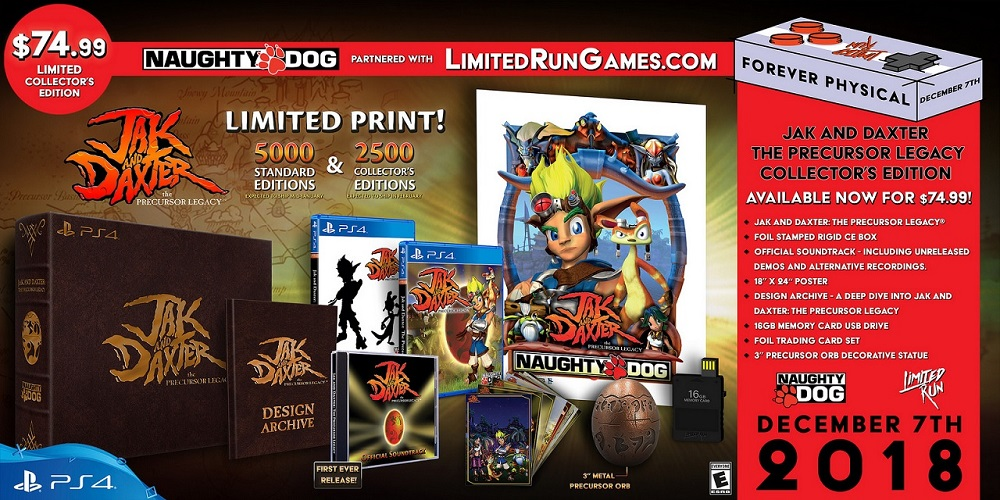 Jak and Daxter PS2 games getting limited edition physical