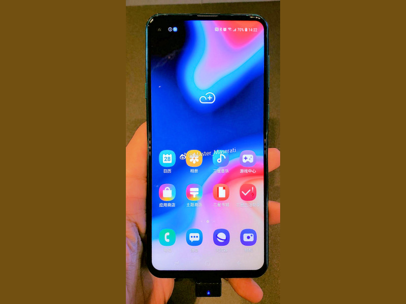 Live Samsung Galaxy A8s Picture With Infinity O Camera Leaks Ahead Of Launch
