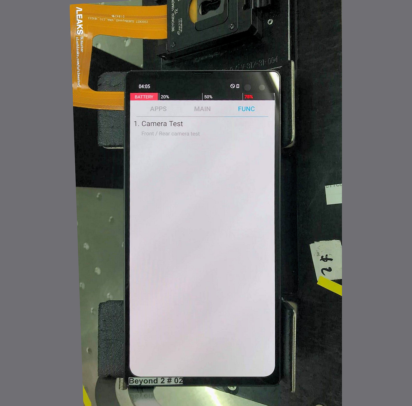 Samsung Galaxy S10 Plus prototype shows off a corner notch