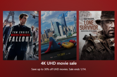 Looking for 4K UHD movies? This might be the perfect time to buy some from the Microsoft Store 1