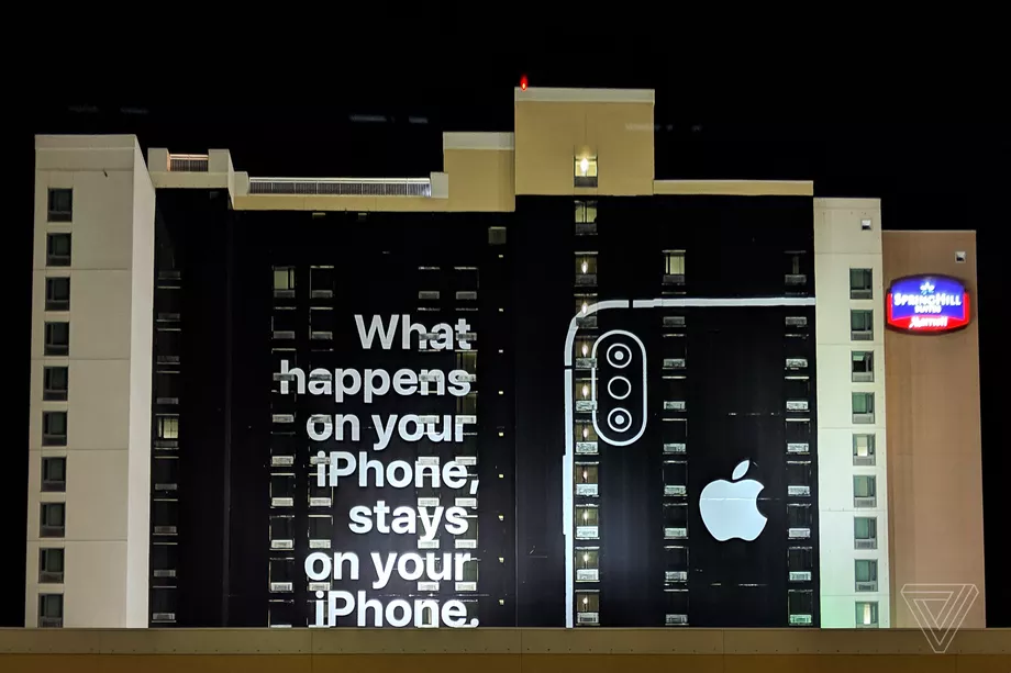 Apple trolls Google with giant billboard at CES 2019