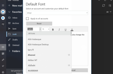 Default font option for Windows 10 Mail and Calendar app coming to more users 2