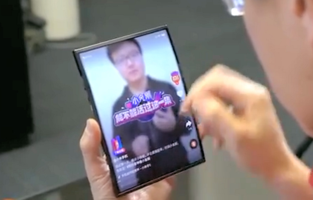 Xiaomi Co-Founder Demoes World's First Double Folding Phone
