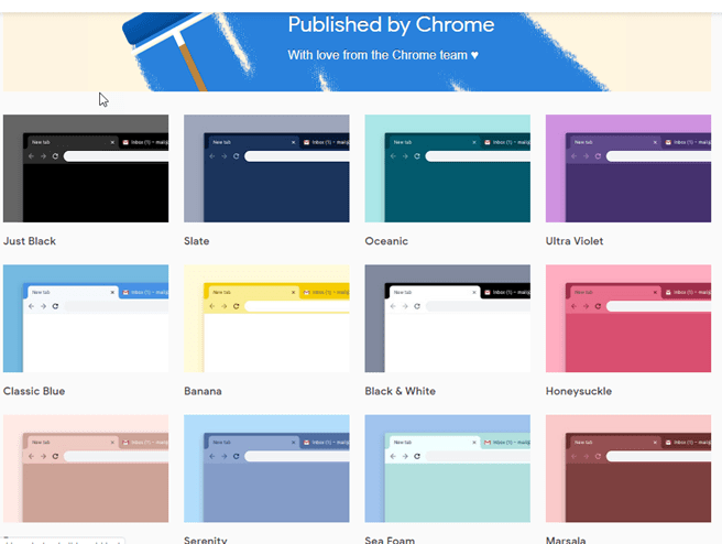 Chrome Gets A Handful of Official Themes