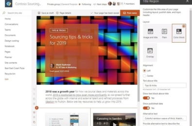 Microsoft announces new enhancements for SharePoint pages in Office 365 15
