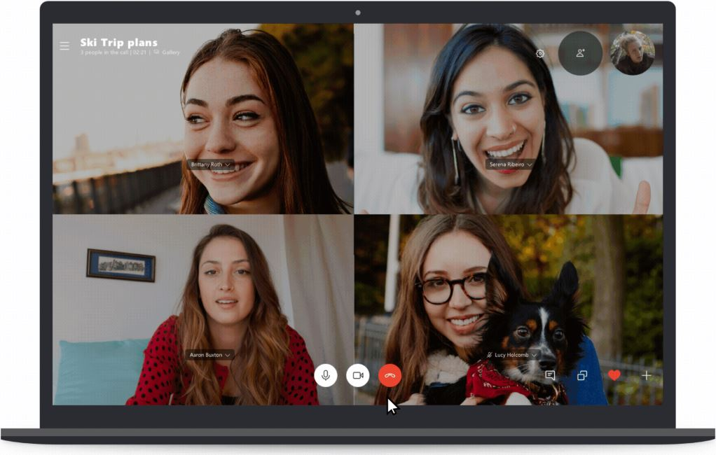 Skype can now blur your background with a click on desktop