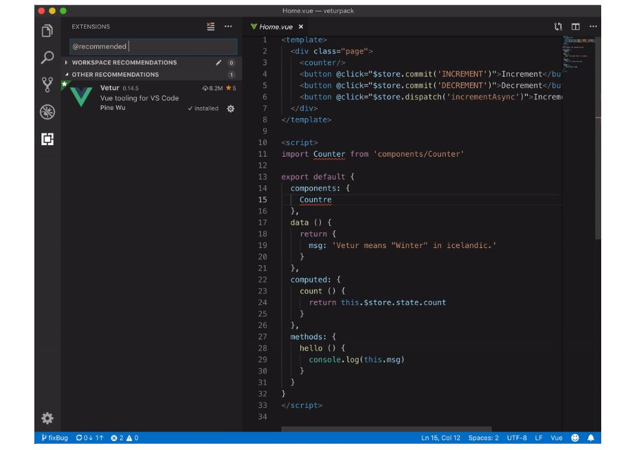 Latest Visual Studio Code update allows you to install an extension