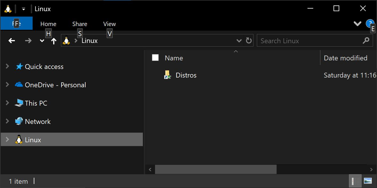 Future version of Windows 10 lets you browse your Linux subsystem files