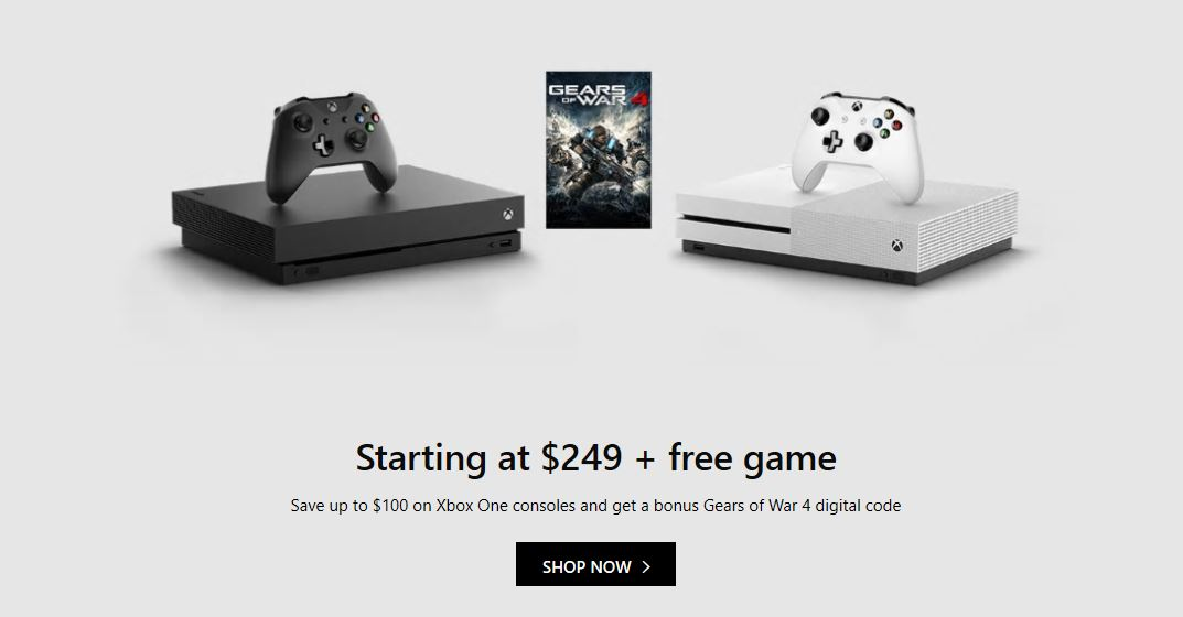 Deal: Save up to $100 on Xbox One consoles and get a bonus