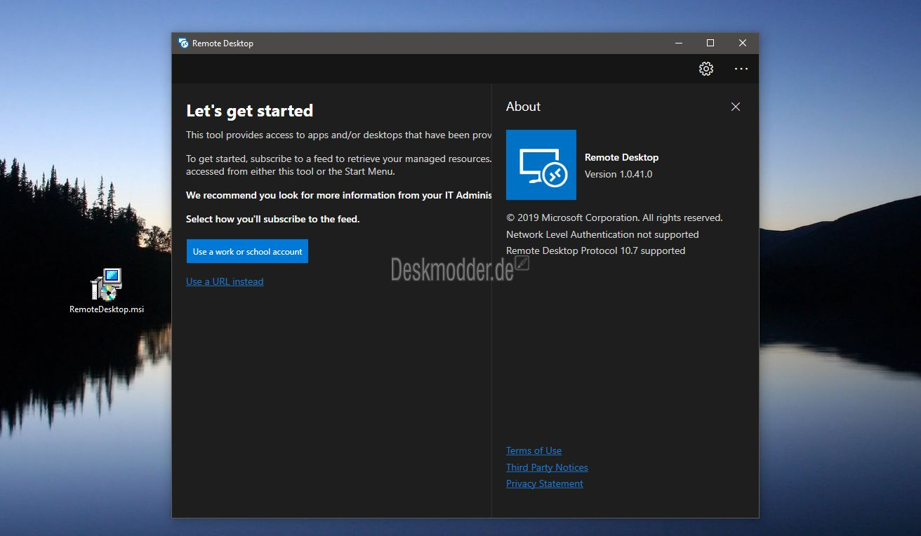 Microsoft's new Remote Desktop Preview app leaks
