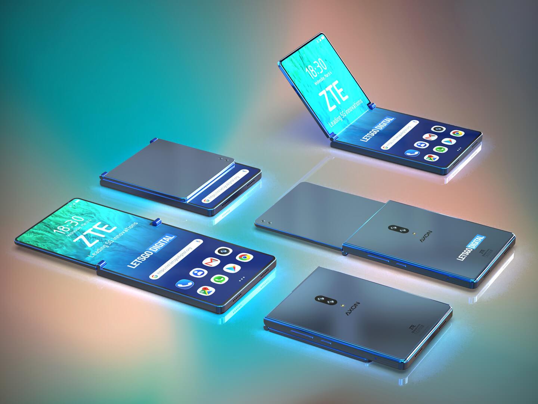 ZTE patents their Razr-like folding phone - MSPoweruser