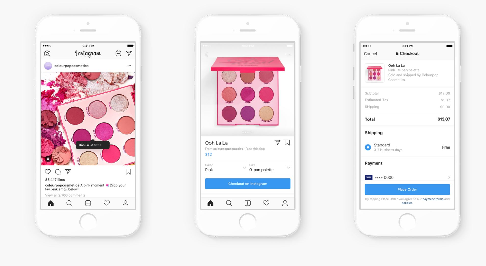 Instagram moves into e-commerce with shopping button