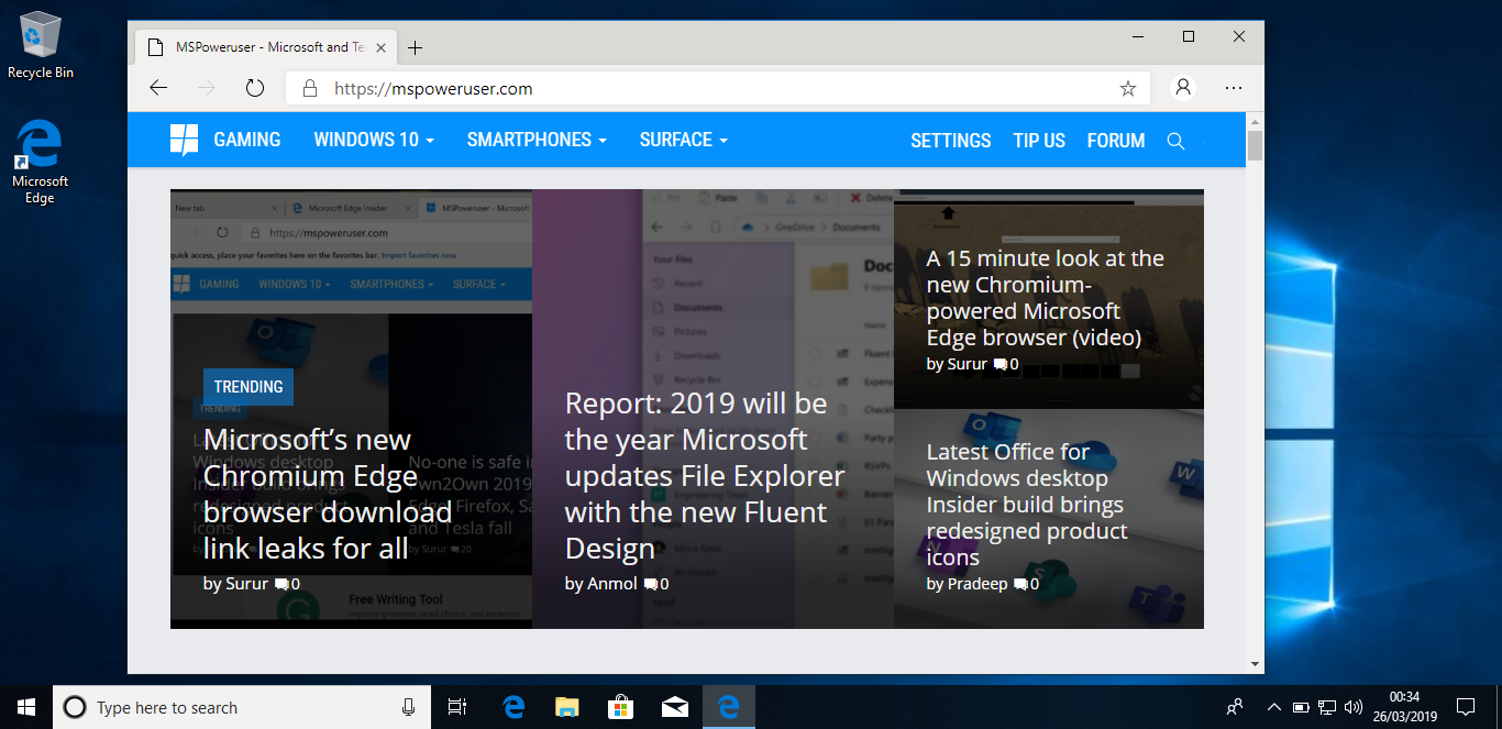 Microsoft starts removing the classic Edge browser in Windows 10 20H1 Build