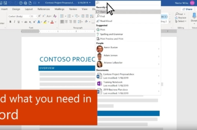 Check out the new Microsoft Search experience in Office for Windows (video) 9