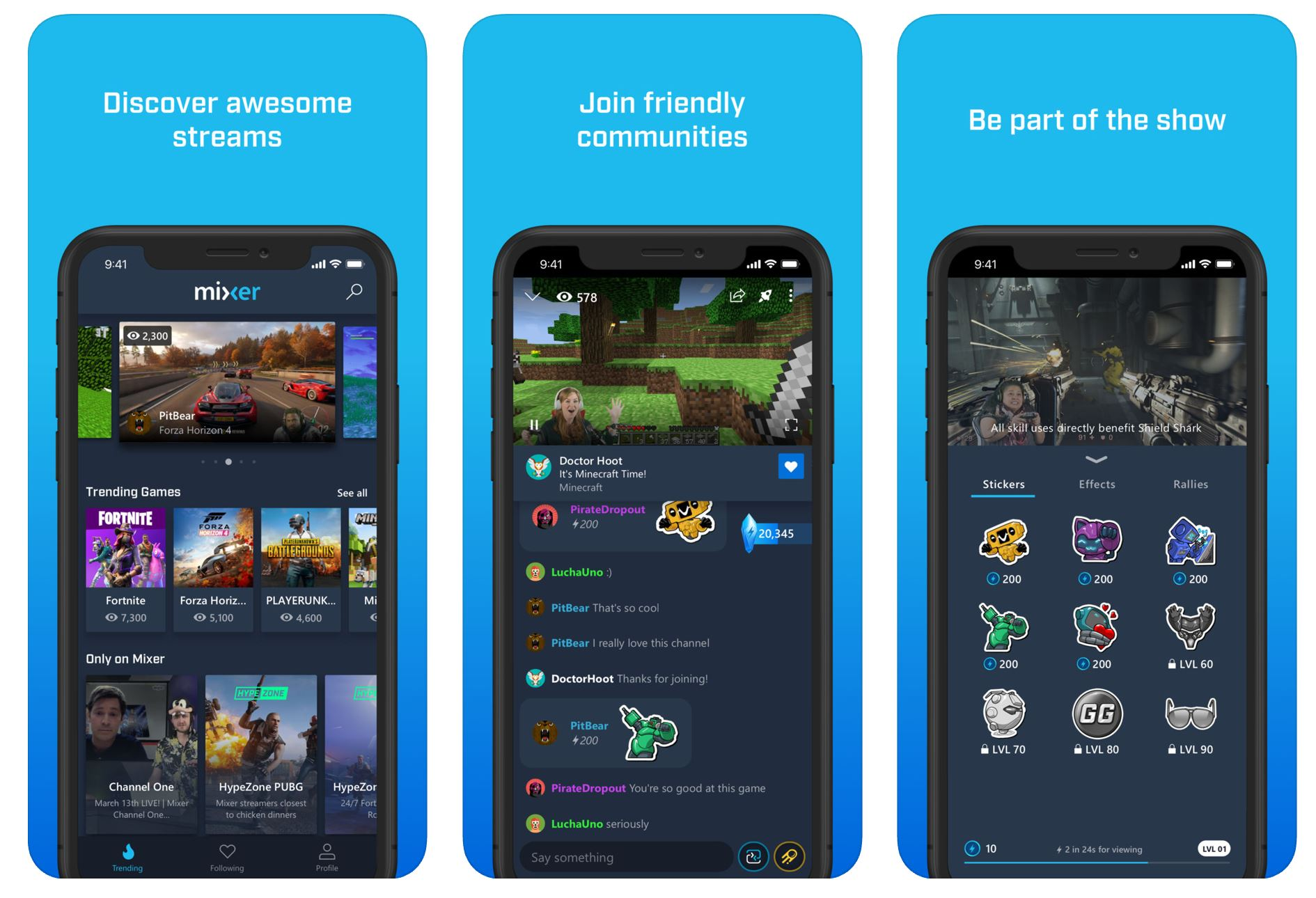 Microsoft Mixer for iOS and Android updated with new features