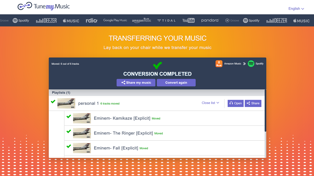 Tutorial: How migrate your playlists from one music