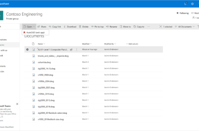 Microsoft announces Autodesk AutoCAD integration in OneDrive and SharePoint 9