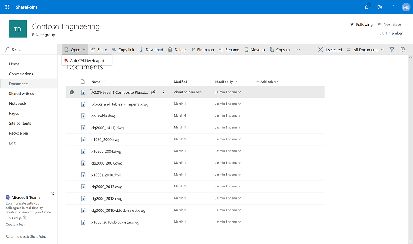 Microsoft announces Autodesk AutoCAD integration in OneDrive and