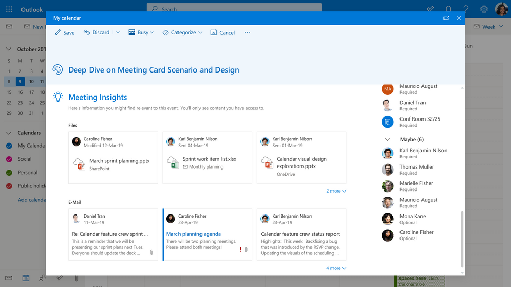 Microsoft announces several new features across email and calendar
