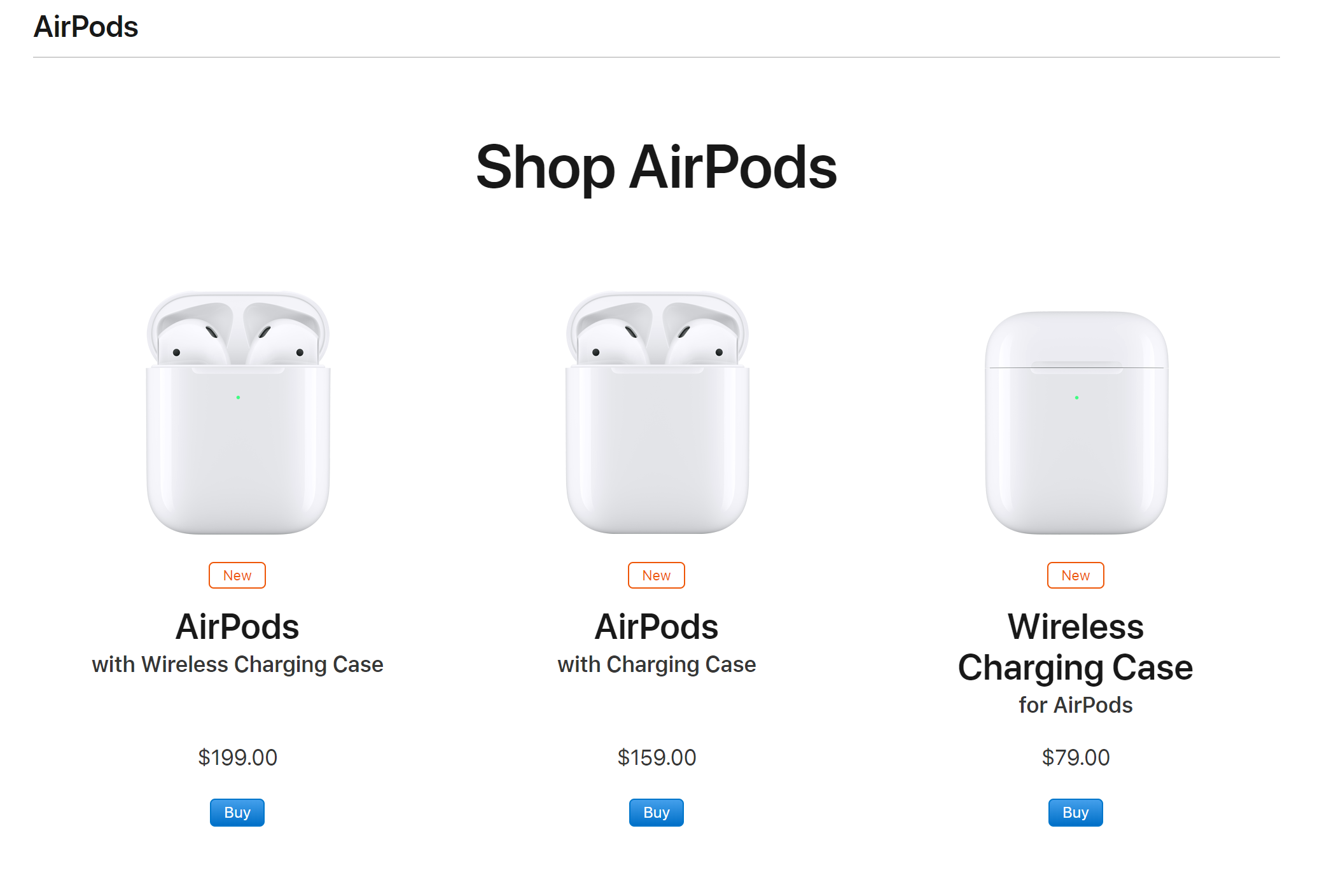 Apple announces second generation AirPods earbuds