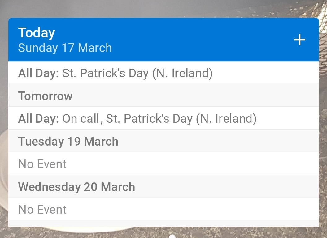 Android Calendar.Outlook For Android Gets A Widget Tweak Mspoweruser