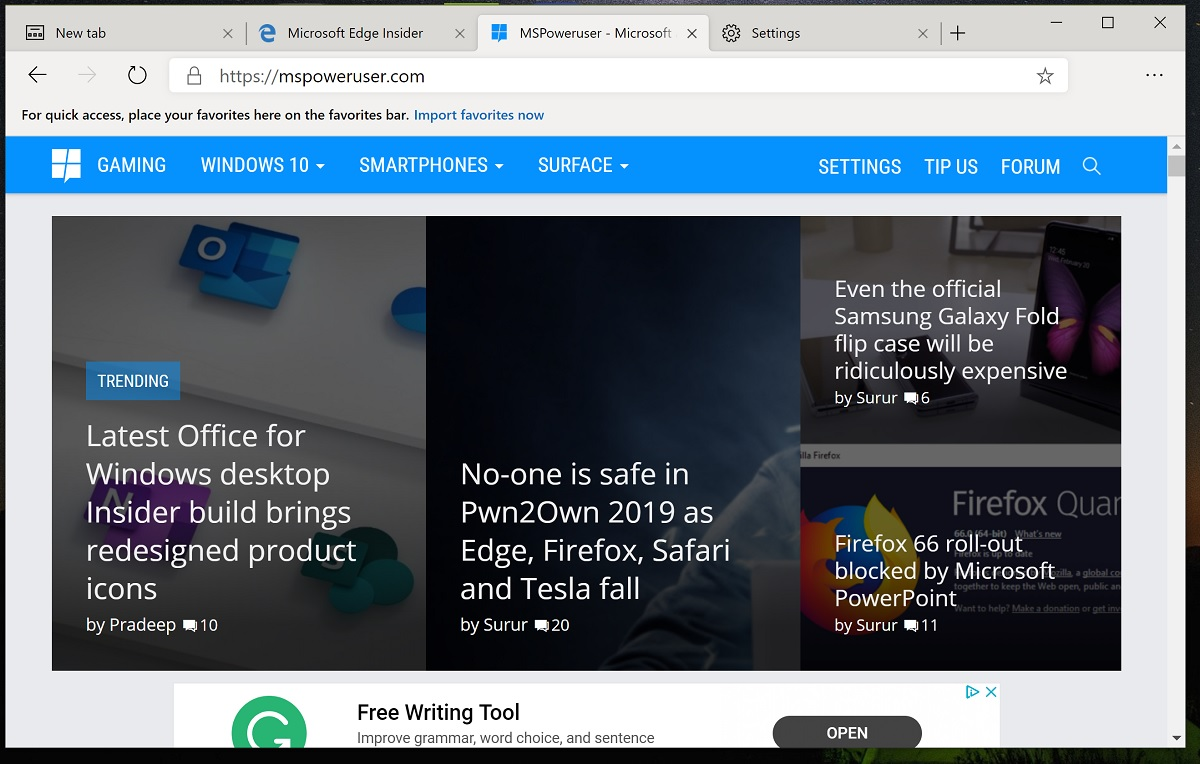 Microsoft's new Chromium Edge browser download link leaks for all