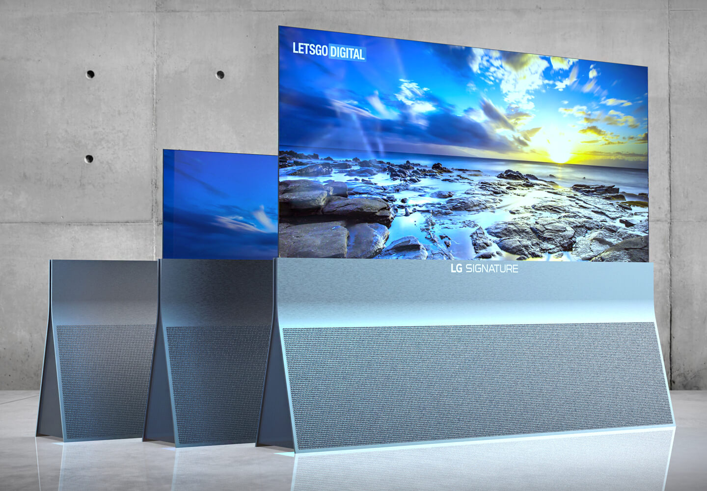 LG's triangular rolling TV stand completely misses the point 4