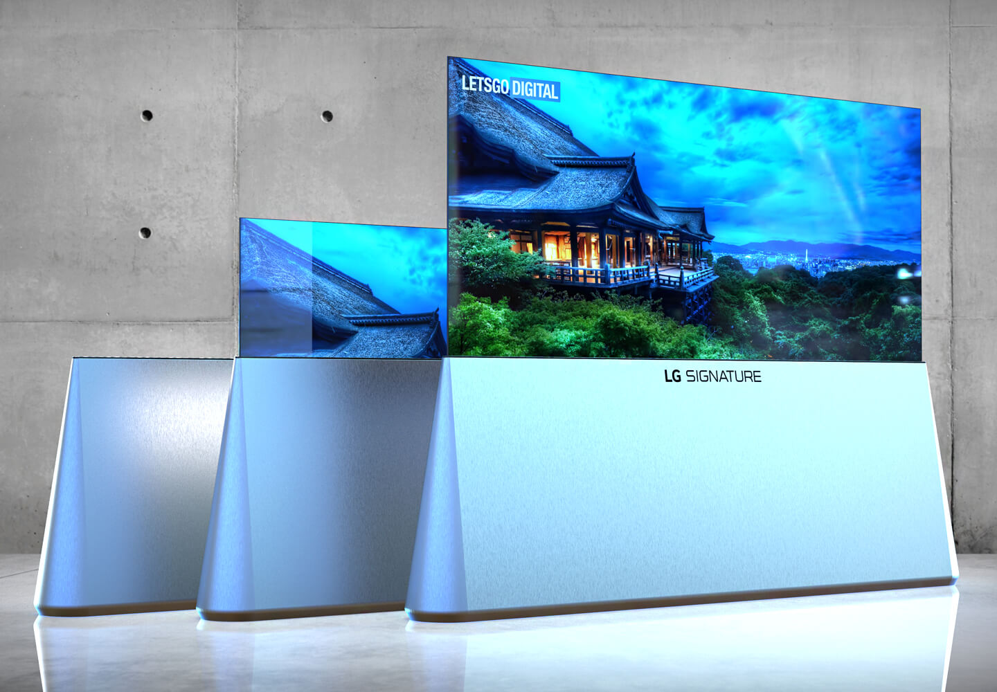 LG's triangular rolling TV stand completely misses the point 3