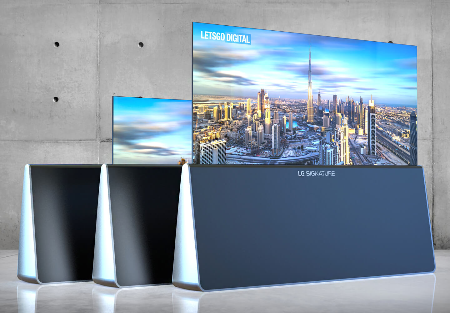 LG's triangular rolling TV stand completely misses the point 1