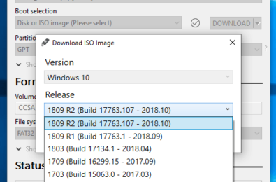 Rufus adds the ability to download Windows 8.1, 10 ISOs directly from the app 14