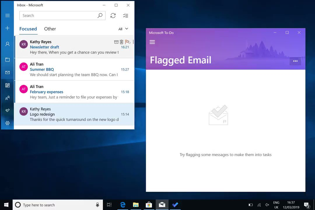 Microsoft To-Do for Windows 10 updated great new Flagged Email productivity feature 1