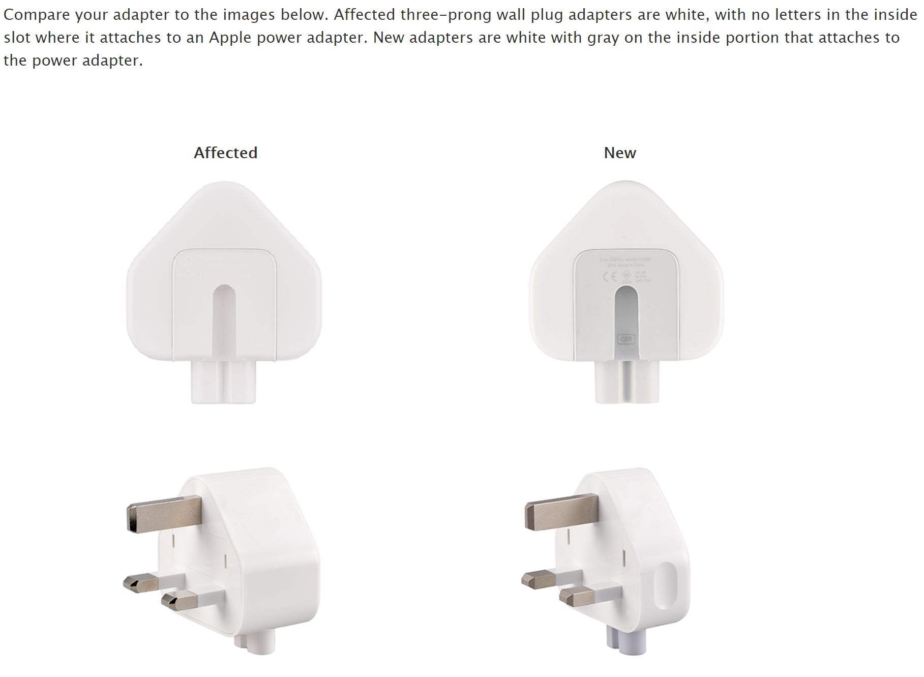 Risky fruit: Apple recalls specific wall plugs over electric shock risk