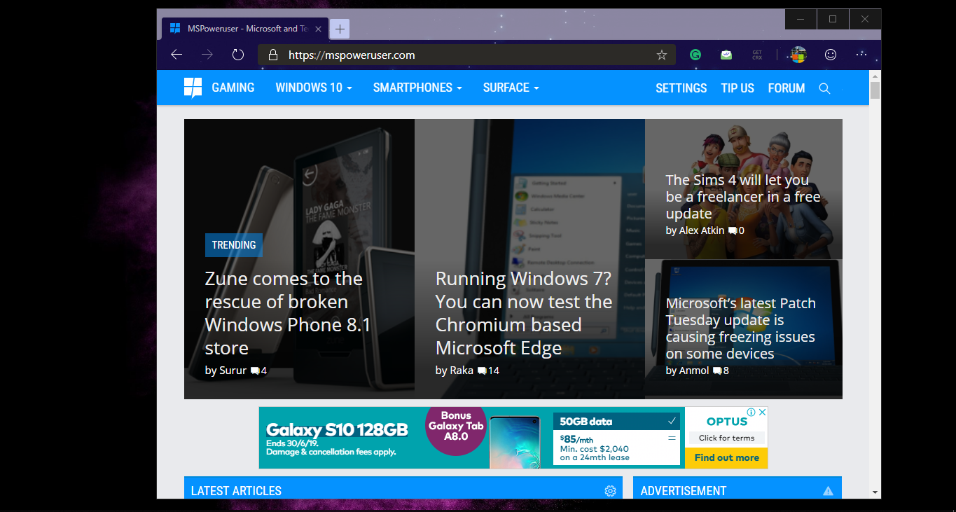 Chromium Edge supports Chrome Themes! Here's how to install them - MSPoweruser 1