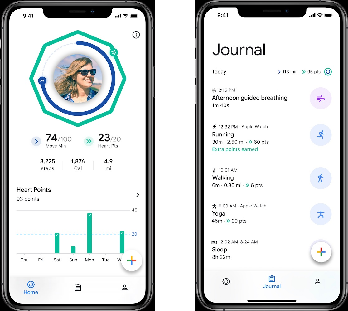 The redesigned Google Fit app is coming to iOS today