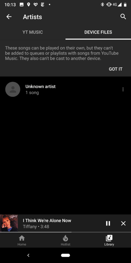 Google's YouTube Music can now play local files on Android 2