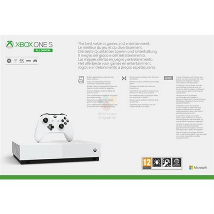 Leaked: Microsoft's Xbox One S All Digital console