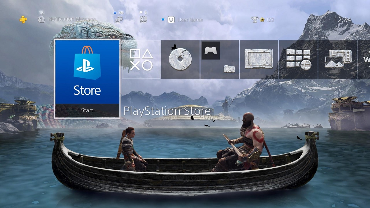 Celebrate God of War's anniversary with free PS4 theme and avatars
