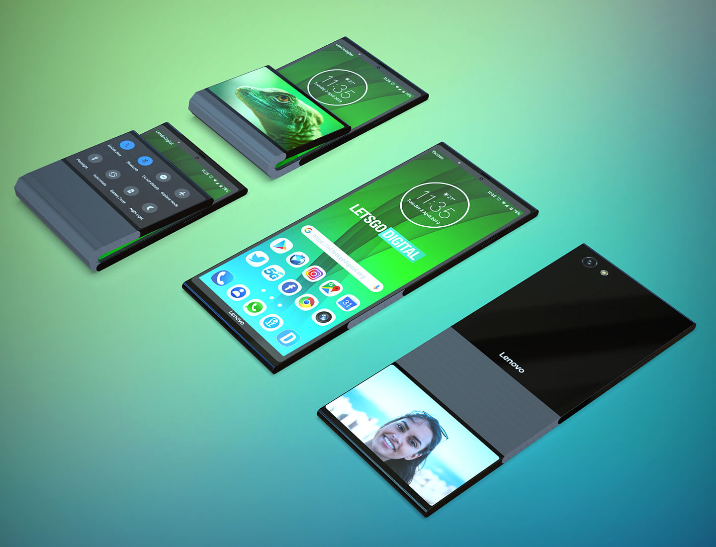 Lenovo patents vertically foldable phone