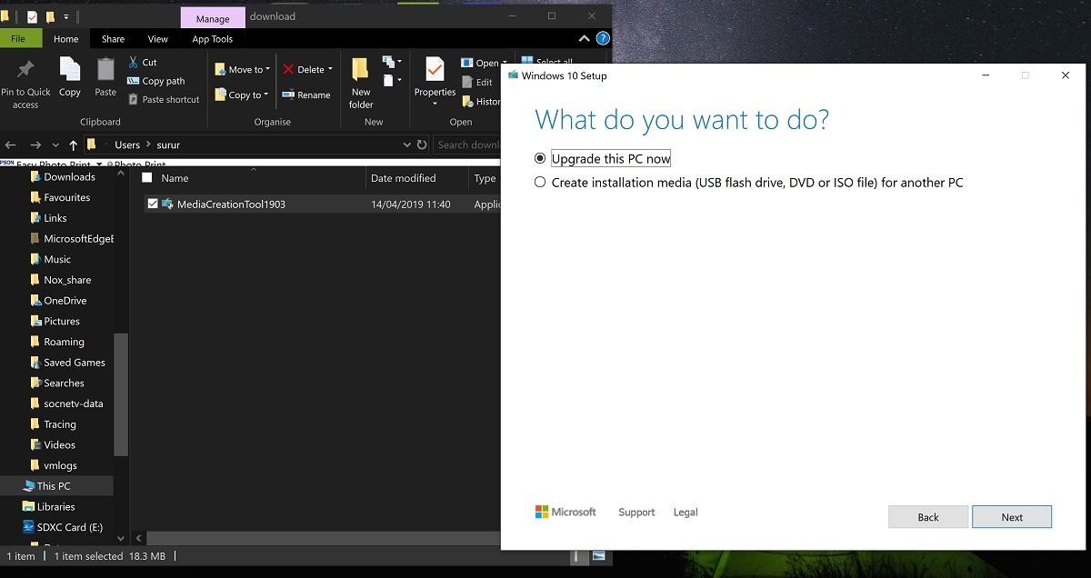 Anschließend können Sie das Media Creation Tool herunterladen und ausführen. Weiter unten finden Sie Anweisungen mit näheren Informationen zur Verwendung dieses Tools. Tool jetzt herunterladen. Datenschutz. Upgrade dieses PCs auf Windows 10 mithilfe d ...