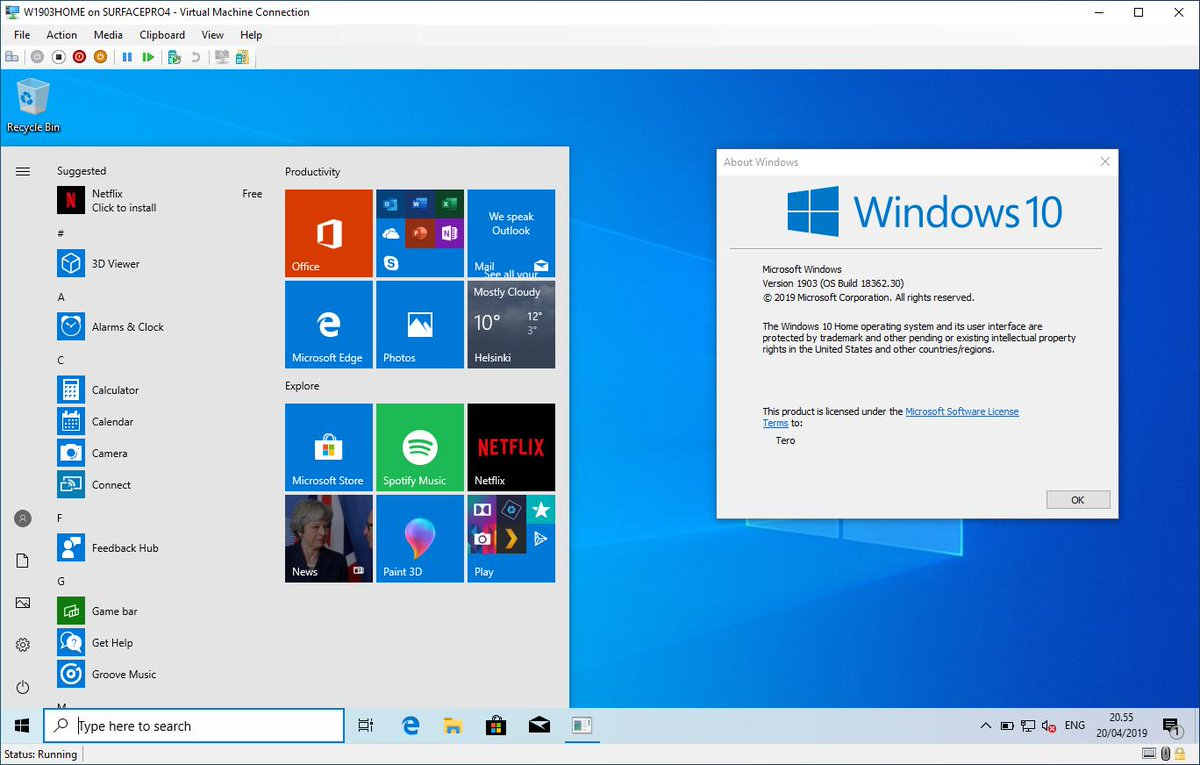 Microsoft release Windows 10 20H1 Insider Preview Build 18917 to the