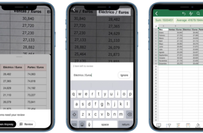 Excel iOS app is now capable of turning photos of table data into spreadsheets 8