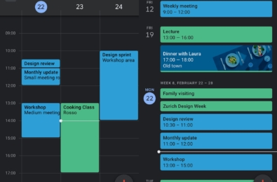 Google Calendar and Google Keep updated with dark mode on Android 6