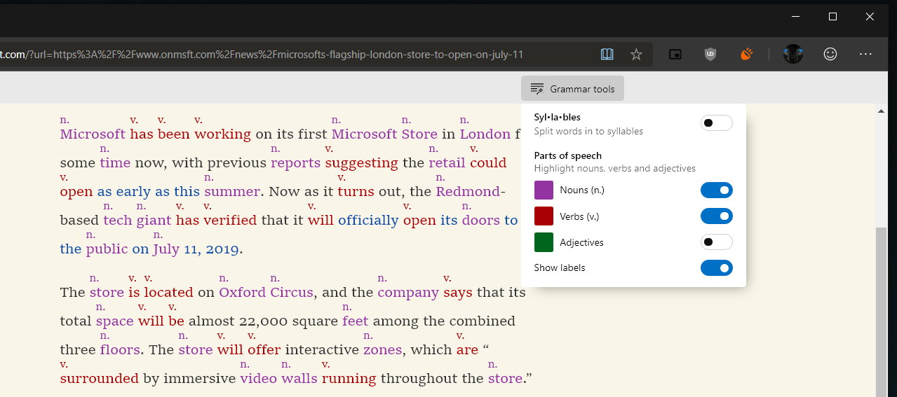 Microsoft Edge Canary in Windows 10 updated with support for